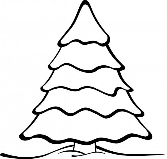 Abeto navide o dibujo navide o para colorear - Dibujos navidenos para ninos ...